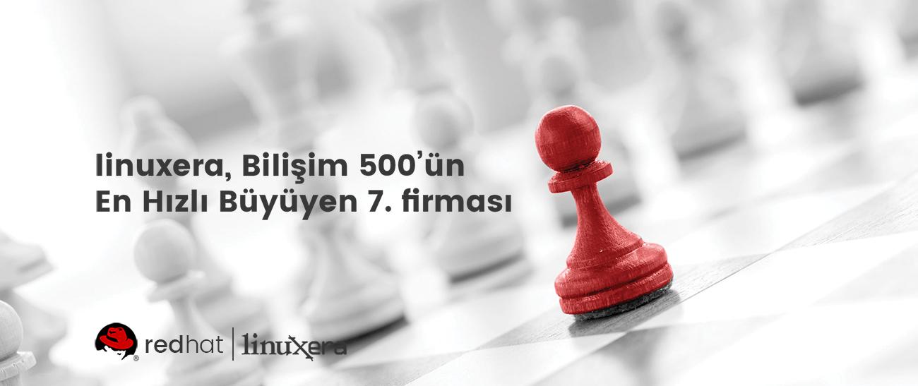 linuxera, Bilişim 500'ün En Hızlı Büyüyen 7. Firması